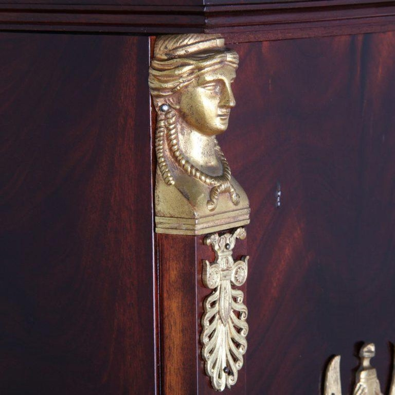 French Empire-Style Mahogany Bookcase In Good Condition For Sale In Vancouver, British Columbia