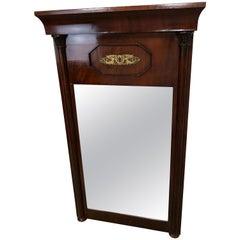 French Empire Style Mahogany Mirror