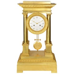 French Empire Style Mantel Clock, circa 1880