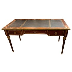 French Empire Style Rosewood and Gilt Bronze Mounted Desk