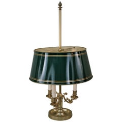 French Empire Style Swan Arms Bouillotte Desk Table Lamp