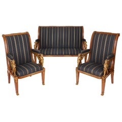 French Empire Style Three-Piece Salon Suite