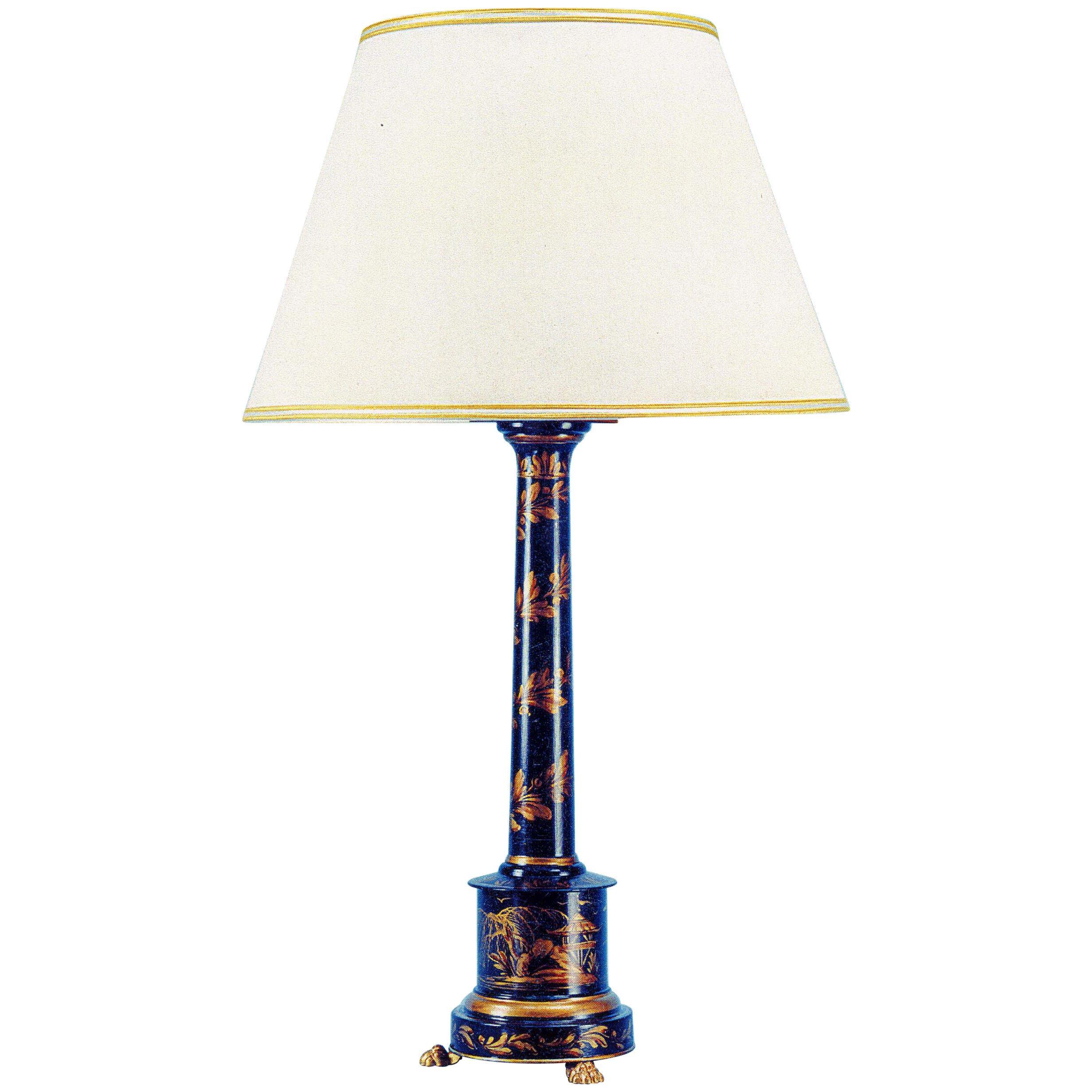 English Regency Style Toleware Lamp By Gherardo Degli Albizzi