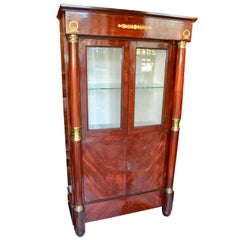 French Empire Style Vitrine/Cabinet