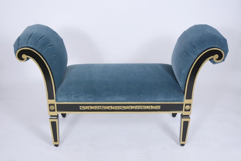 Empire Scrolled Arm Bench For Sale