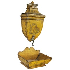 French Empire Yellow Tole Lavabo