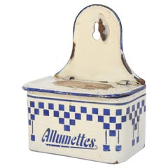 French Enamel Match Holder and Striker