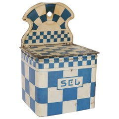 French Enamel Salt Cellar