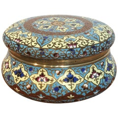 French Enamel Table Box, Attributed to F. Barbedienne