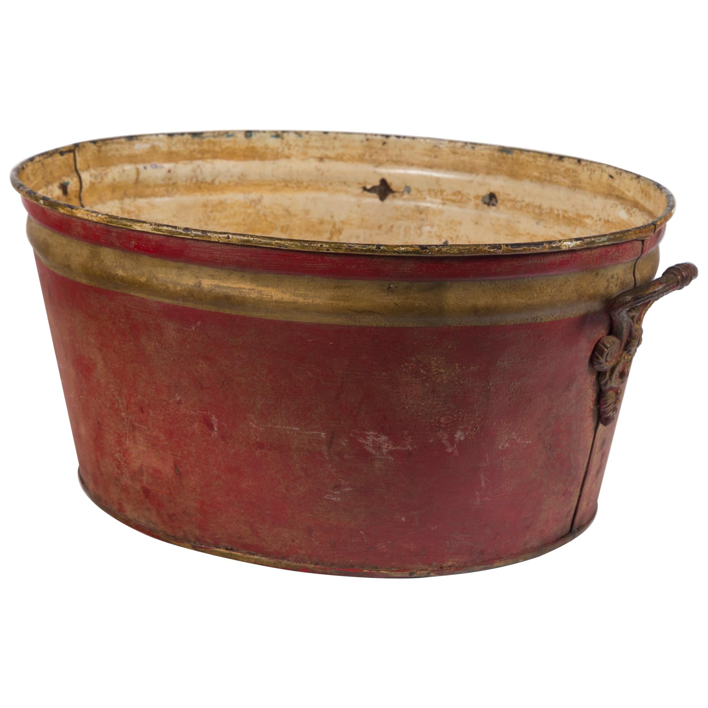 French Enamelware Basin, Early 20th Century
