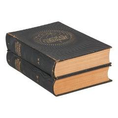 French Encyclopedia- Two Volumes Nouveau Larousse Universel, 1948