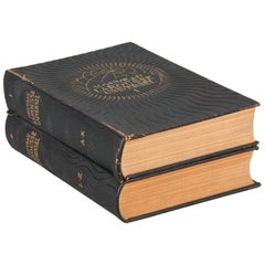 French Encyclopedia, Two Volumes Nouveau Larousse Universel, 1948