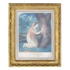 """French Engraving """"L'Amitie"""" or """"Friendship"""" by JP Simon after Original by Le Roy"""