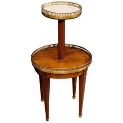 French Étagère in Carved Wood with Marble Top from 20th Century