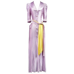 French Evening Dress in Fibranne Early 1940