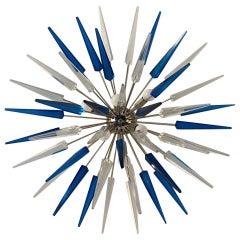 French Exploding Fireworks Flush Pendant Light