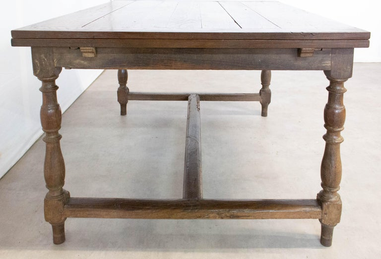 French Extending Dining Table Carved Oak, 19th Century For Sale 7