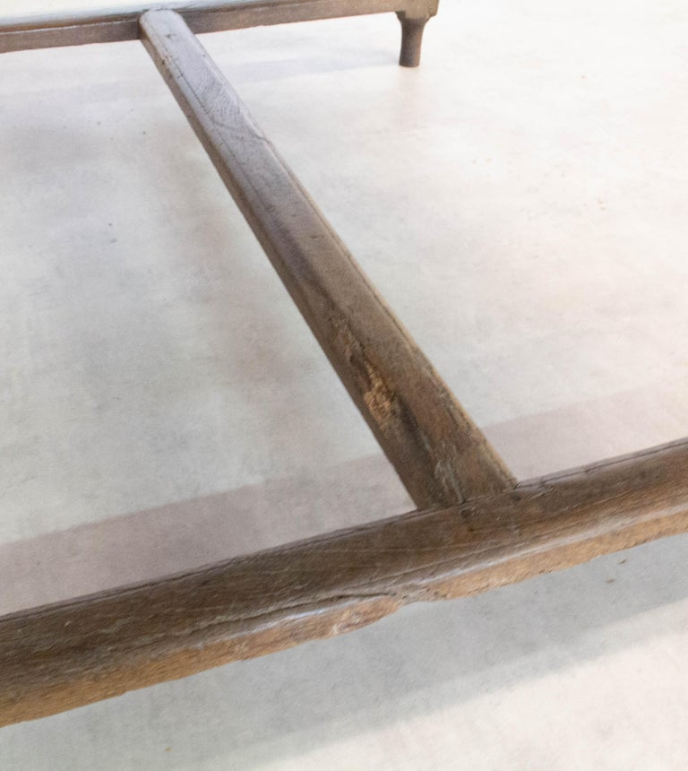 French Extending Dining Table Carved Oak, 19th Century For Sale 11