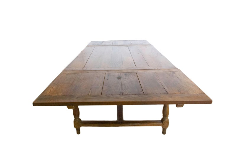 French Extending Dining Table Carved Oak, 19th Century For Sale 3