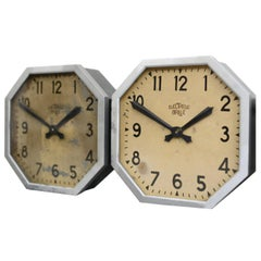 French Factory Clocks by Brillie, circa 1920s