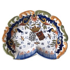 French Faience Dish or Vide Poche, Circa 1900