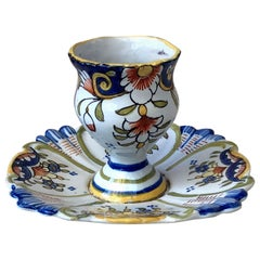French Faience Egg Cup, circa 1900