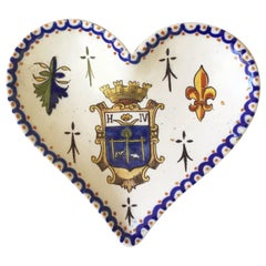 French Faience Heart Platter, circa 1910