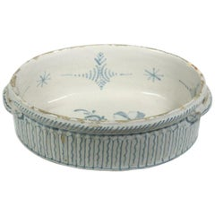 French Faience Jardinière, Blue and White