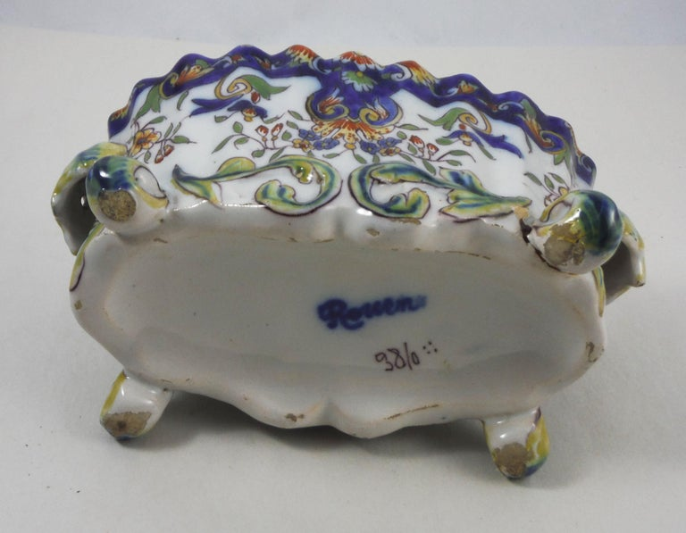 French Faience Jardinière, circa 1900 In Good Condition For Sale In The Hills, TX