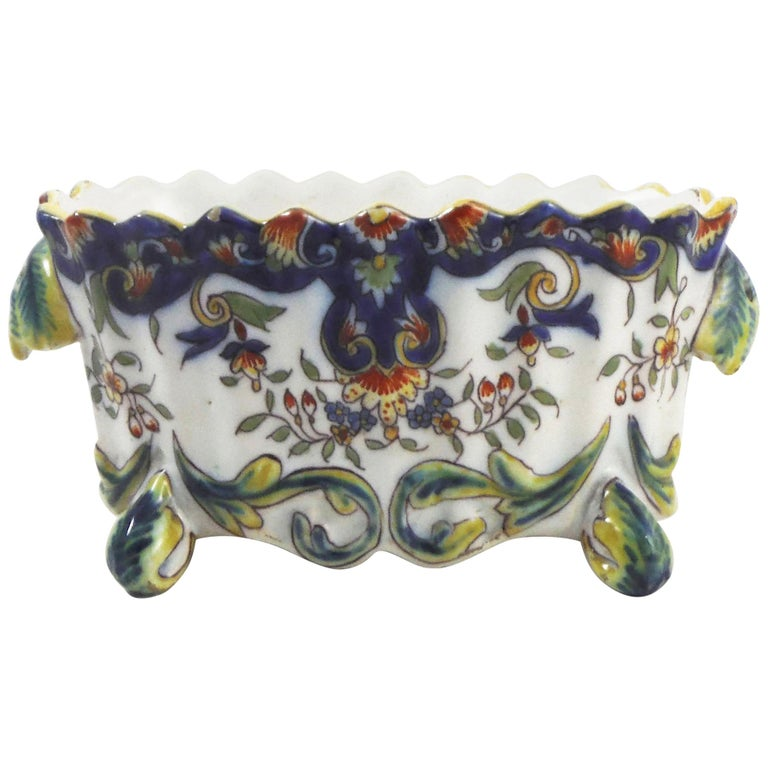 French Faience Jardinière, circa 1900 For Sale