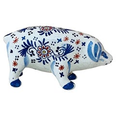 French Faience Pig Desvres, circa 1910