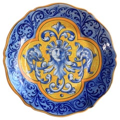 French Faience Plate Keller & Guerin Luneville, circa 1890