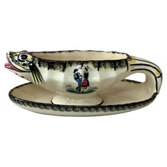 French Faience Saucer Henriot Quimper, circa 1940