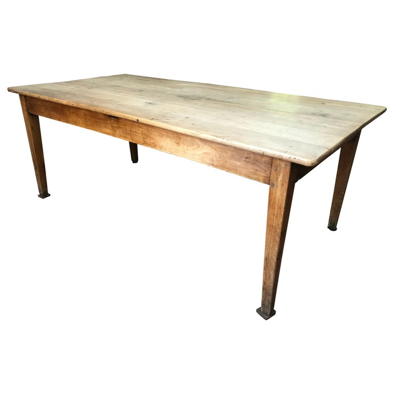 French Farm Table, 19th Century For Sale