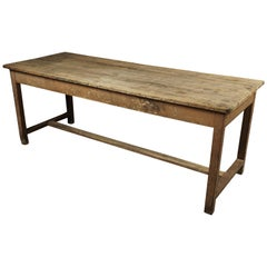 French Farm Table in Pine, circa 1940