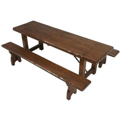 French Farm Table with Matching Benches