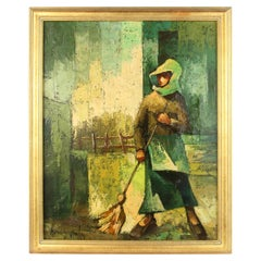 French Farmer Figurative Painting