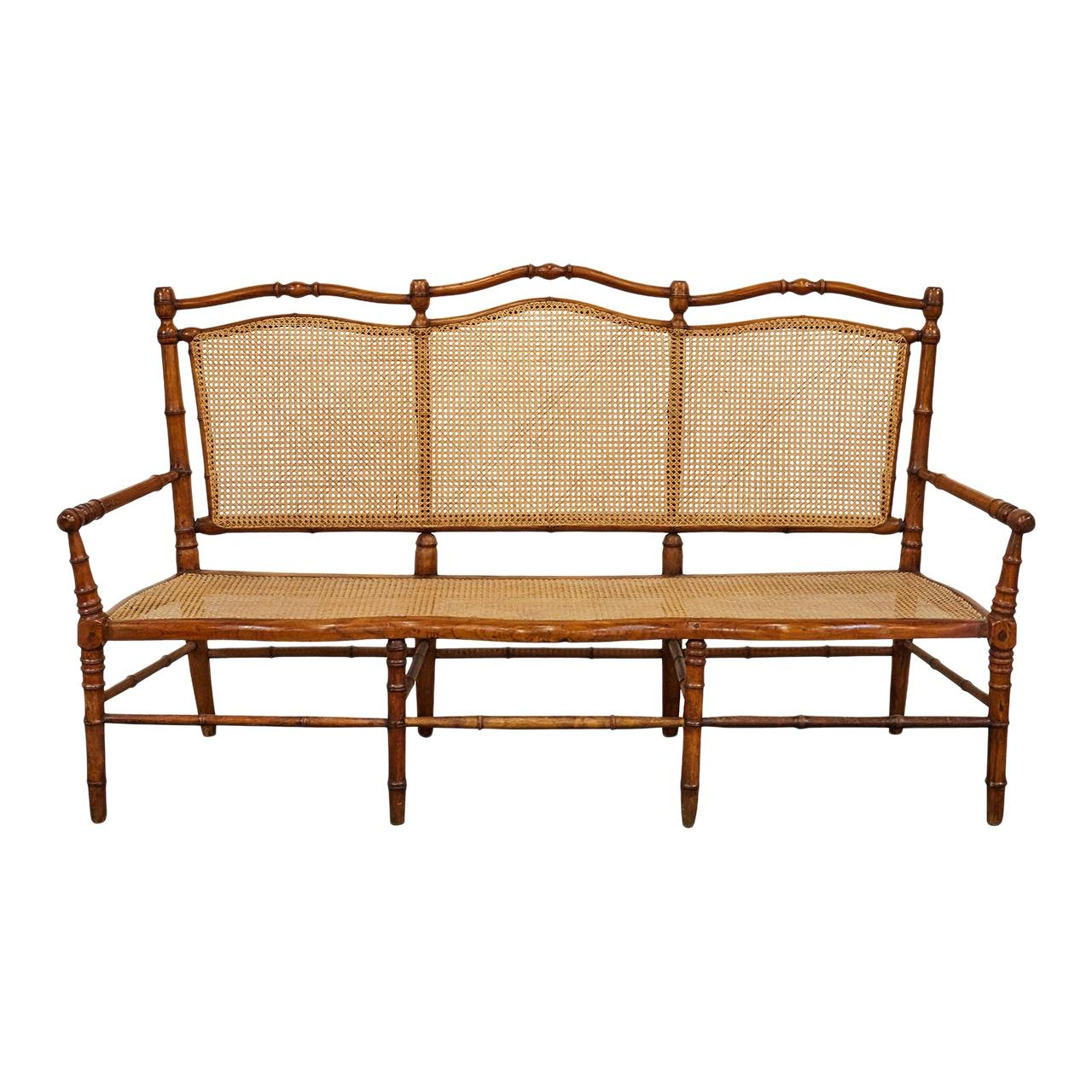 New Real Bamboo Bench Seating Storage Indoor or Outdoor Asian Zen Tiki Furniture