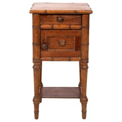 French Faux Bamboo Night Stand