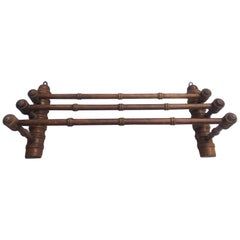 French Faux Bamboo Towel Holder, circa 1900
