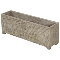 French Faux Bois Garden Trough or Garden Planter, Vintage