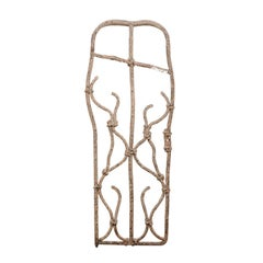 French Faux Bois Gate with Unusual Shape from the Late 19th Century