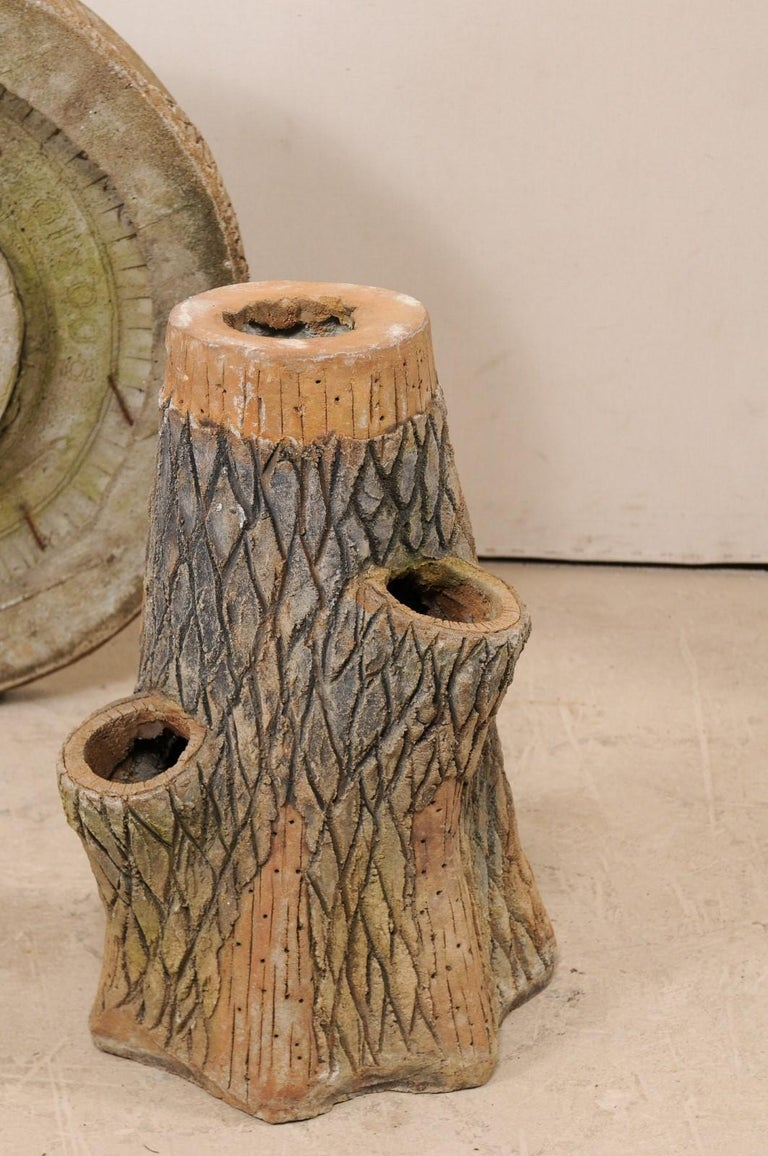 French Faux Bois Tree Stump Outdoor Garden Porch Or Patio