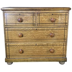 French Faux Grain Painted Chest of Drawers or Commode