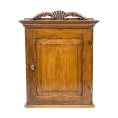 French Faux Painted Wall Cupboard