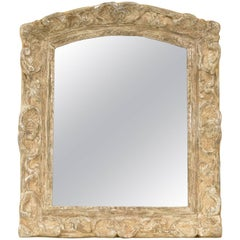 Fine 17th Century Louis Xiv Carved And Giltwood Mirror