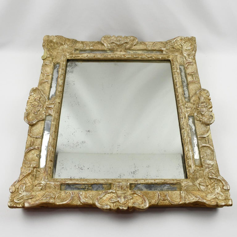French 17th Century Louis XIV Silver Leaf Parclose Mirror In Good Condition For Sale In Atlanta, GA