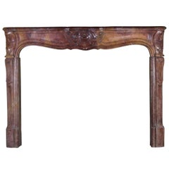 French Fine Louis XV Period Antique Fireplace Surround