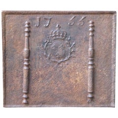 French Fireback with Coat of Arms of France, Dates 1755