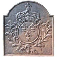 French Fireback with the Coat of Arms of France